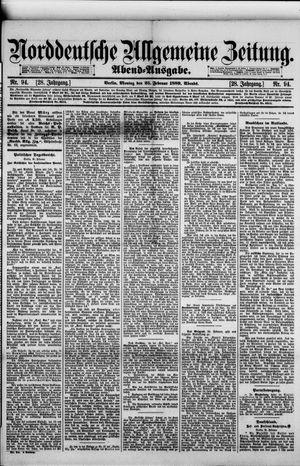 Norddeutsche allgemeine Zeitung vom 25.02.1889