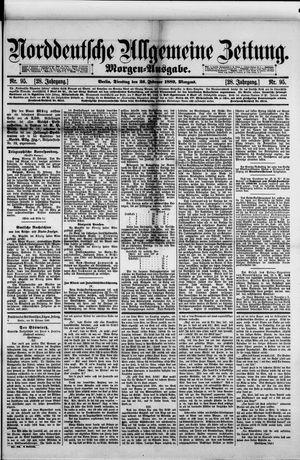 Norddeutsche allgemeine Zeitung vom 26.02.1889