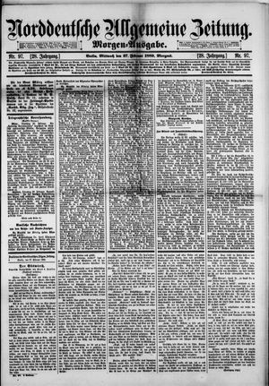 Norddeutsche allgemeine Zeitung vom 27.02.1889