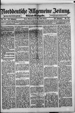 Norddeutsche allgemeine Zeitung vom 20.03.1889