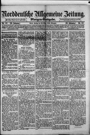 Norddeutsche allgemeine Zeitung vom 22.03.1889