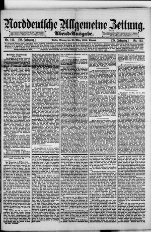 Norddeutsche allgemeine Zeitung vom 25.03.1889