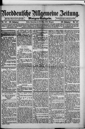 Norddeutsche allgemeine Zeitung vom 28.03.1889