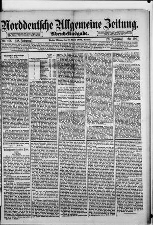 Norddeutsche allgemeine Zeitung vom 08.04.1889