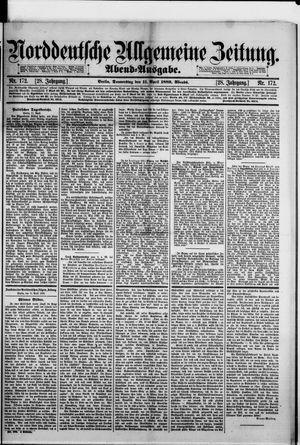 Norddeutsche allgemeine Zeitung vom 11.04.1889