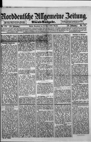Norddeutsche allgemeine Zeitung vom 13.04.1889