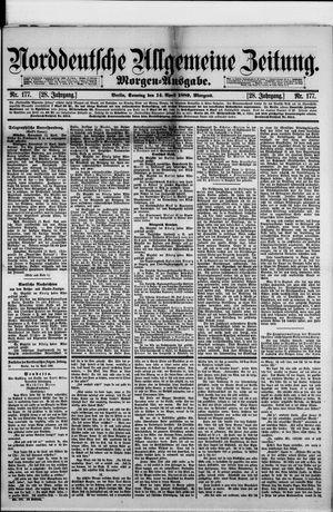 Norddeutsche allgemeine Zeitung vom 14.04.1889