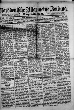 Norddeutsche allgemeine Zeitung vom 15.05.1889