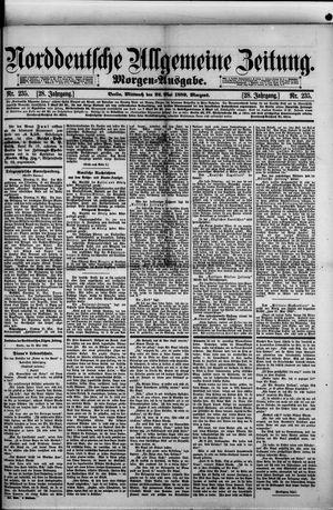 Norddeutsche allgemeine Zeitung vom 22.05.1889
