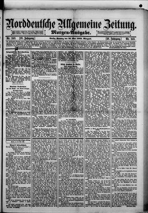 Norddeutsche allgemeine Zeitung vom 26.05.1889