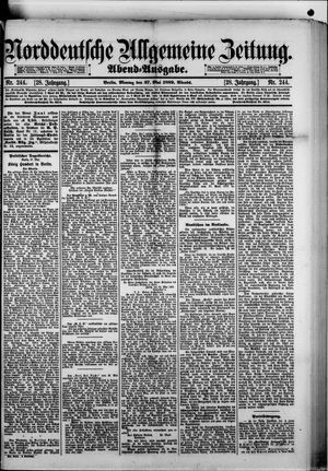 Norddeutsche allgemeine Zeitung vom 27.05.1889