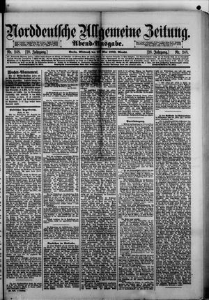 Norddeutsche allgemeine Zeitung vom 29.05.1889