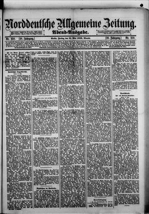 Norddeutsche allgemeine Zeitung on May 31, 1889