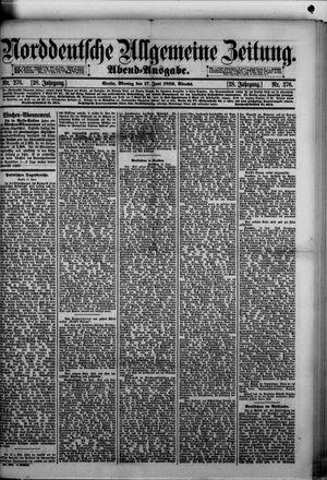 Norddeutsche allgemeine Zeitung vom 17.06.1889