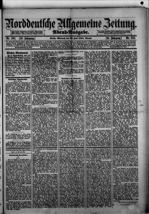 Norddeutsche allgemeine Zeitung vom 26.06.1889