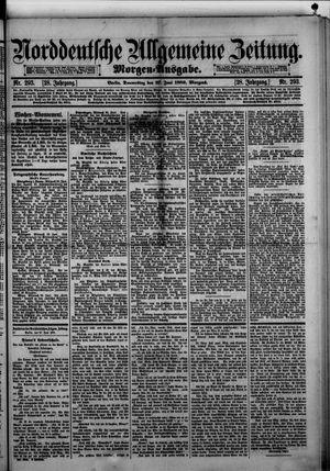 Norddeutsche allgemeine Zeitung vom 27.06.1889