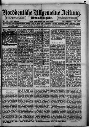 Norddeutsche allgemeine Zeitung vom 28.06.1889