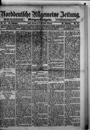 Norddeutsche allgemeine Zeitung vom 07.07.1889