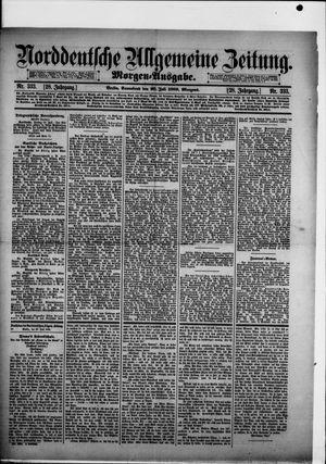 Norddeutsche allgemeine Zeitung on Jul 20, 1889