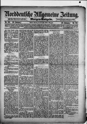 Norddeutsche allgemeine Zeitung vom 21.07.1889