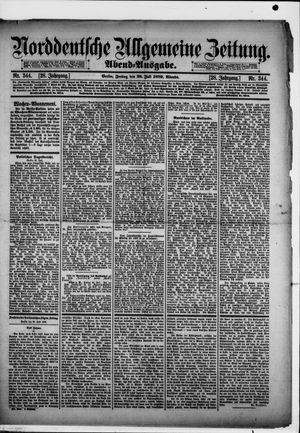Norddeutsche allgemeine Zeitung on Jul 26, 1889