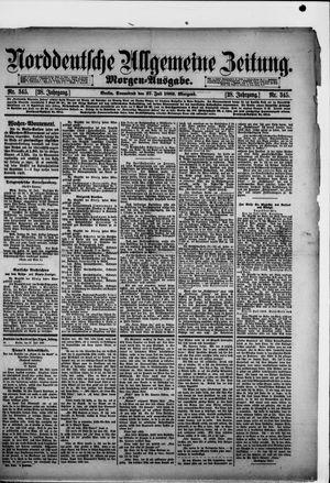 Norddeutsche allgemeine Zeitung vom 27.07.1889