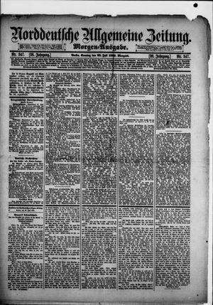 Norddeutsche allgemeine Zeitung on Jul 28, 1889