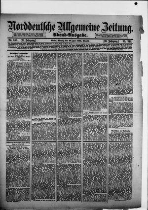 Norddeutsche allgemeine Zeitung vom 29.07.1889