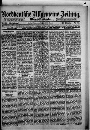 Norddeutsche allgemeine Zeitung vom 31.07.1889