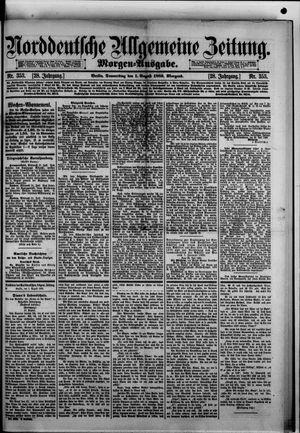 Norddeutsche allgemeine Zeitung vom 01.08.1889