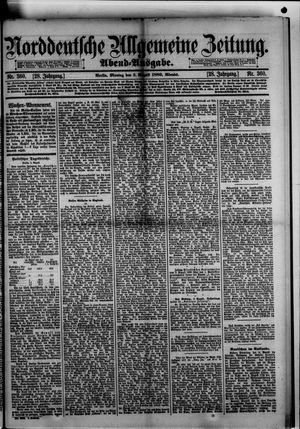 Norddeutsche allgemeine Zeitung vom 05.08.1889
