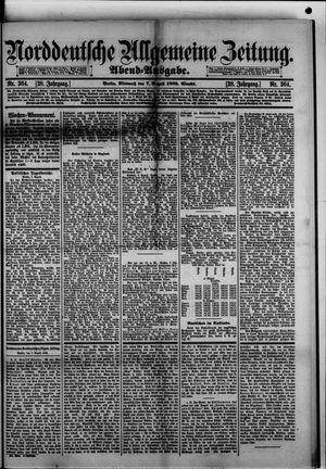 Norddeutsche allgemeine Zeitung vom 07.08.1889