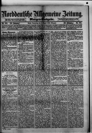 Norddeutsche allgemeine Zeitung vom 08.08.1889
