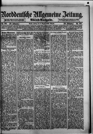 Norddeutsche allgemeine Zeitung vom 09.08.1889