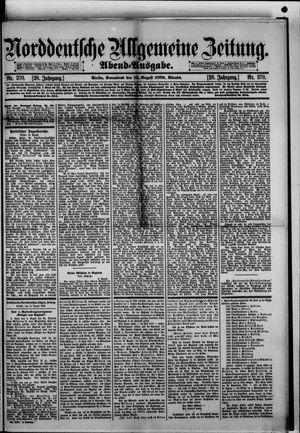 Norddeutsche allgemeine Zeitung vom 10.08.1889