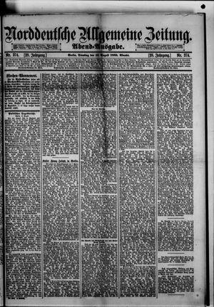 Norddeutsche allgemeine Zeitung vom 13.08.1889