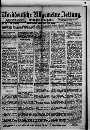 Norddeutsche allgemeine Zeitung vom 15.08.1889