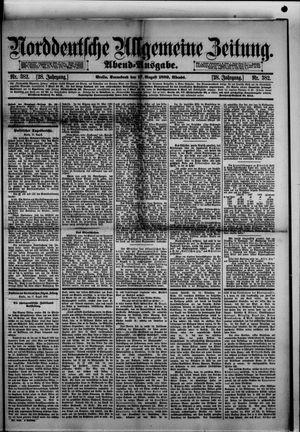 Norddeutsche allgemeine Zeitung vom 17.08.1889