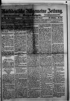 Norddeutsche allgemeine Zeitung vom 18.08.1889