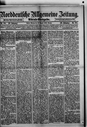 Norddeutsche allgemeine Zeitung vom 19.08.1889