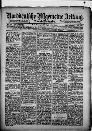 Norddeutsche allgemeine Zeitung vom 20.08.1889