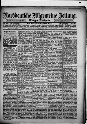 Norddeutsche allgemeine Zeitung vom 21.08.1889