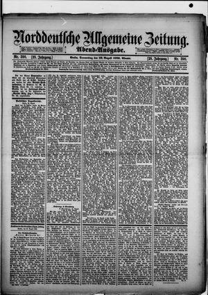Norddeutsche allgemeine Zeitung vom 22.08.1889