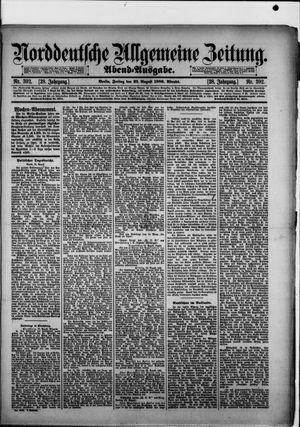 Norddeutsche allgemeine Zeitung vom 23.08.1889