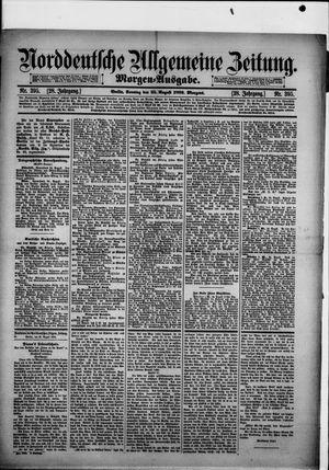 Norddeutsche allgemeine Zeitung vom 25.08.1889