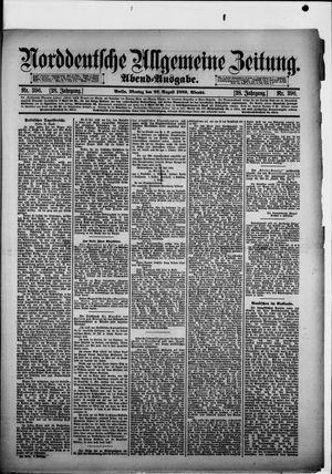 Norddeutsche allgemeine Zeitung vom 26.08.1889