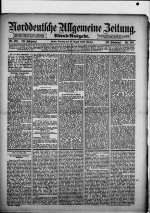 Norddeutsche allgemeine Zeitung vom 27.08.1889