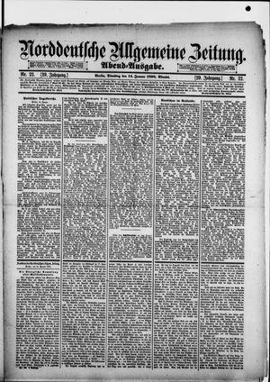 Norddeutsche allgemeine Zeitung vom 14.01.1890