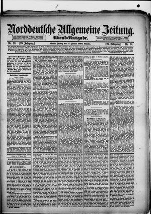 Norddeutsche allgemeine Zeitung vom 17.01.1890