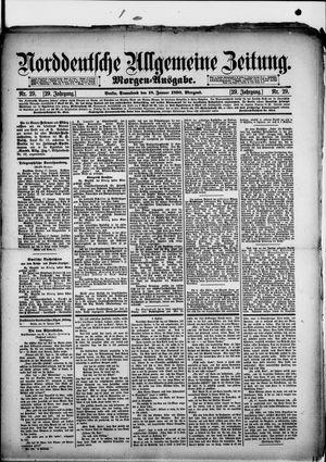 Norddeutsche allgemeine Zeitung vom 18.01.1890